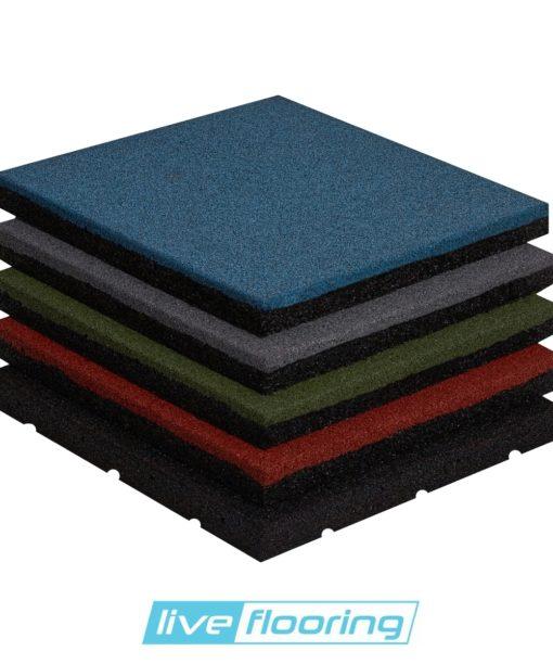 Proflex-SBR - różne kolory płyt gumowych SBR