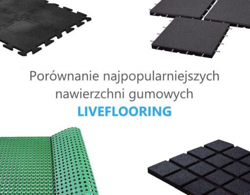 Porównanie nawierzchni gumowych LIVEFLOORING